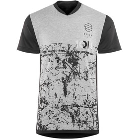 ION Scrub AMP Fietsshirt korte mouwen Heren grijs/zwart